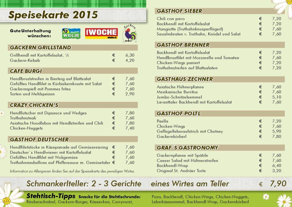 Gackern-Speisekarte 2015
