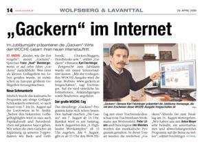 Gackern im Internet